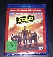 Solo A Star Wars Storry 3D blu ray + Doble 2D más Rápido Envío Nuevo Emb. Orig.
