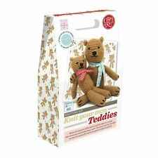 The Crafty Kit Company Knitting Knit Your Own Teddies