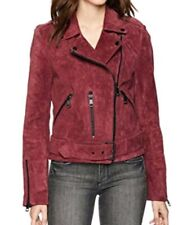 Bagatelle Women's Suede Belted Biker Jacket ES EXTRA SMALL NEW WITH DEFECT
