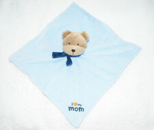 Carter's child of  mine plush Baby Blanky blue security blanket lovey w rattle