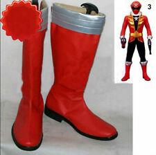 Kaizoku Sentai Gokaiger Gokai Red Cosplay Costume Boots Boot Shoes Shoe UK