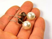 Old vintage retro Sterling Silver 925 earrings with stones authentic 152s