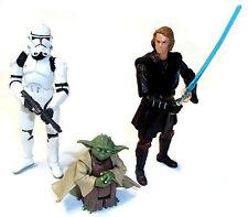 Star Wars Clone Wars Set De 3 Yoda, Anakin & Clone Trooper Figuras De Juguete Set Lote