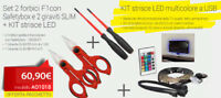 INTERCABLE AO1018 Set 2 forbici F1con Safetybox e 2 giraviti SLIM + KIT strisce