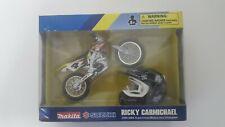 Makita Suzuki Ricky Carmichael 4 Model NewRay Toys Motocross 1:18 Scale