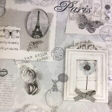 FELICITY Shabby Chic Carta Da Parati Da Arthouse-Grigio/Argento 665401