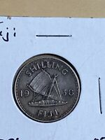 1938 Fiji 1 Shilling Silver Coin!! Low Mintage!!