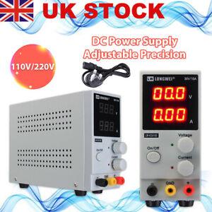 UK DC Bench Power Supply 30V 10A Variable Precision Adjustable Digital Lab Grade