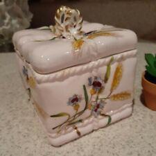 Vintage ceramic Present Box, Burslem pottery