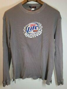Kurt Busch Miller Lite Nascar Racing Long Sleeve Team Caliber T-Shirt Size 2XL