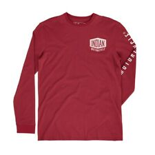 Indian Motorcycle Men's Long-Sleeve T-Shirt with Shield Logo, Red , # 2869706