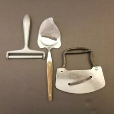 Vintage Lot  Cheese Slicer Cutter Kitchen Utensils Stainless Steel Nevco Japan