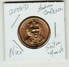 2008 D Andrew Jackson 7th President 1829 1837 Satin Finish Presidential Dollar $