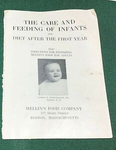 The Care and Feeding of Infants by Mellin's Food Company 1924