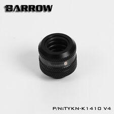 "Barrow G1/4"" Matte Black Compression Fitting For 14mm Rigid Tubing - 158"
