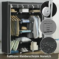 Kleiderschrank Stoffschrank Faltschrank Garderobenschrank Faltbar Vlies Juskys®