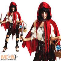 Zombie Little Dead Red Riding Hood Halloween Ladies Fancy Dress Costume UK 6-20