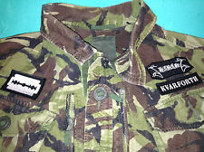 Shining Black Metal Jungle Camouflage DPM XXL Army Jacket Halmstad Sweden Angst