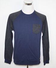 EDC by ESPRIT Two Tone Sweatshirt Baumwoll-Mix melange blau Gr. M UVP 39,99€