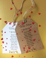 Wedding Seating Table Tags Seating Plan Chart Rustic Header Card Craft Cards