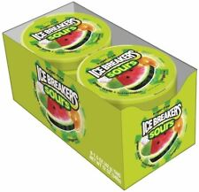 Ice Breakers Sours Fruit Tin 1.5 oz. 8-Pack Mints Sugar Free Fat Free Food Candy