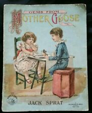 Book Gems From Mother Goose Jack Sprat Books & Games McLoughlin Softcover 1911