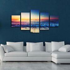Framed canvas prints seascape print Sunset Sunrise beach wave modern wall art