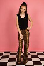 Vintage Wide leg jumpsuit with snake skin pattern by Cimmaron Dress