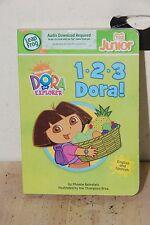 123 Dora the Explorer Board Book Hardback Tag Junior Leap Frog Book