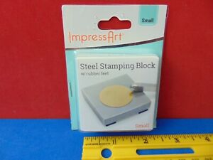 ImpressArt Steel Stamping Block with Rubber Feet Small New in Package