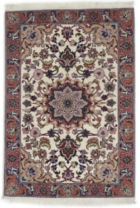 Extra Fine Hand-Knotted Small 2X3 Classic Floral Design Oriental Rug Home Carpet