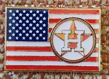 HOUSTON ASTROS UNITED STATES FLAG LAPEL PIN - WHITE VERSION