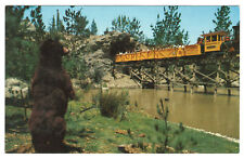 Disneyland Vintage Unused Postcard Frontierland Mine Train in Bear Country c1965