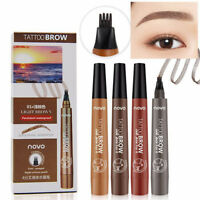 NOVO 3D Micro 4 Head Fork Tip Tattoo Eyebrow Pen Waterproof 24H Long Lasting