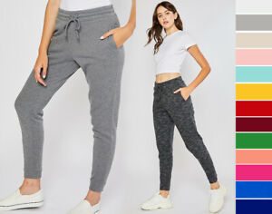 Reflex Women's Premium Fleece High Waist Jogger Sweatpants Workout Gym Lounge
