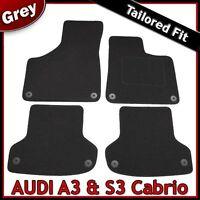 Audi A3 Convertible Mk2 2008-2013 Tailored Fitted Carpet Car Floor Mats GREY