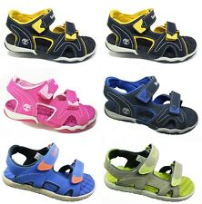 New TIMBERLAND Kids Sandals 2-Strap Summer Shoes Boys Girls Sale Size UK 7 - 2.5