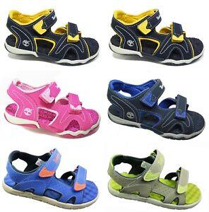 New TIMBERLAND Kids Sandals 2-Strap Summer Shoes Boys Girls Sale Size UK 7 - 2.5