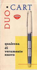DEPLIANT PUBBLICITARIO DUO-CART AURORA 88 1955 - PERFETTO STATO -  C5-1