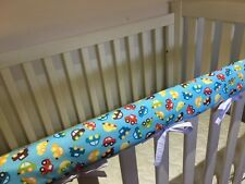 Reversible Baby Cot Crib Teething Rail Cover Protector ~  Colourful Cars