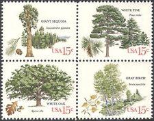 USA 1978 in rovere/Betulla/PINO/Sequoia/ALBERI/PIANTE/NATURA/conservazione 4 V nero (n42211)