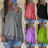 Zanzea S-5XL Women's BOHO Casual Lace Crochet Tops Blouse Tee T Shirt Plus Size