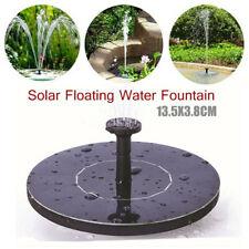 Bird Bath Fountain Solar Powered Water Pump Floating Outdoor Pond Garden Patio