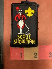 Vtg RED SUIT & TOP HAT SCOUT SHOWMAN W/ WHIP CIRCUS-MASTER Boy Scouts Patch S70U