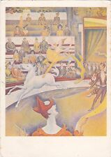 RARE SEURAT The Circus gymnast acrobate clown horse old vintage French postcard