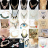 Fashion Jewelry Necklace Charm Crystal Chunky Statement Bib Pendant Choker Chain