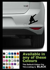 Snow board man silhouette for car van vinyl sticker/ decals x 1