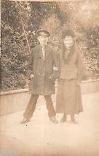 BL964 Carte Photo vintage card RPPC Couple mode fashion déguisement