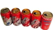 Coca-cola Cans Vintage Coke Collectable Hockey Cans 90's Lot Of 5 !