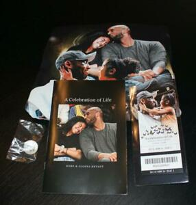 ​Kobe Bryant Memorial Shirt Ticket Lapel Pin Program Set 2/24/20 Staples Lakers